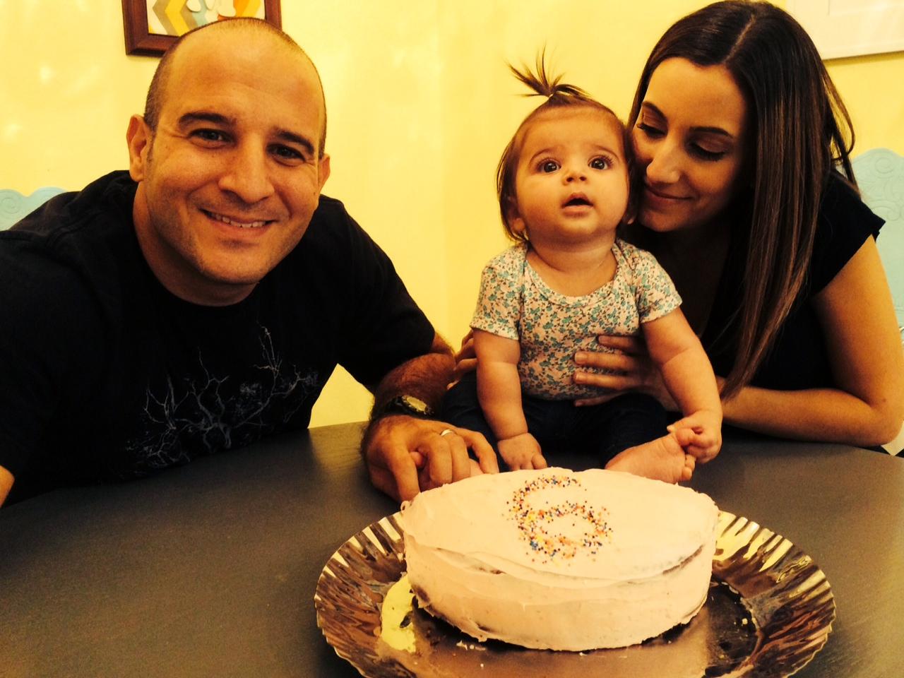 6 month half cake